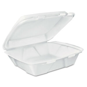 Dart Carryout Food Containers White Foam 7 4 5 X 8 1 2 X 2 1 2 200 carton