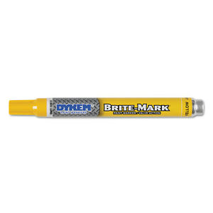 Dykem Itw Pro Brands Brite mark Paint Marker Bullet Medium Tip Yellow