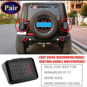 For 07 17 Jeep Wrangler Jk Led Tail Lights Brake Reverse Rear Turn Signal Lamp V