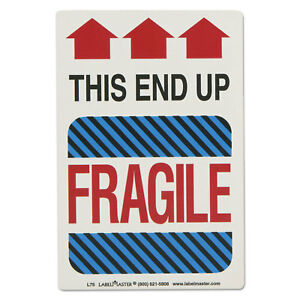 Shipping Self adhesive Label 5 7 8 X 4 1 4 This End Up Fragile 500 roll