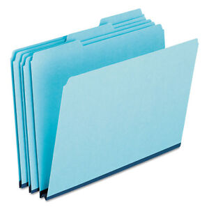 Pressboard Expanding File Folders 1 3 Cut Top Tab Legal Blue 25 box