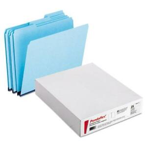 Pressboard Expanding File Folders 1 3 Cut Top Tab Letter Blue