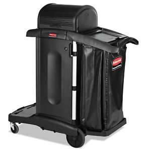 Executive High Security Janitorial Cleaning Cart 23 1 10 X 39 3 5 X 27 1 2 B