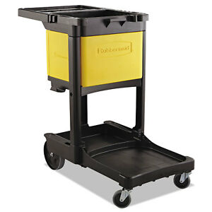 Locking Cabinet For Rubbermaid Commercial Cleaning Carts Yellow