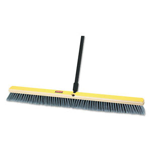 Medium Floor Sweeper 36 X 3 Bristles Plastic tampico Gray 2 carton