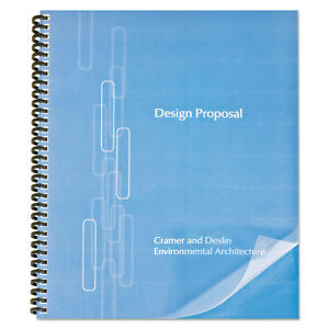 Proclick Pre punched Presentation Covers 11 X 8 1 2 Clear 25 pack