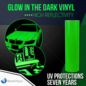 Glow In The Dark Reflective Vinyl Adhesive Cutter Sign 24 x10 Feet