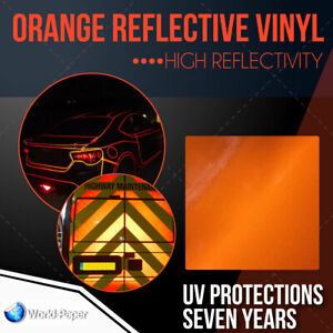 Orange Reflective Vinyl Adhesive Cutter Sign Hight Reflectivity 24 X 10 Ft 1