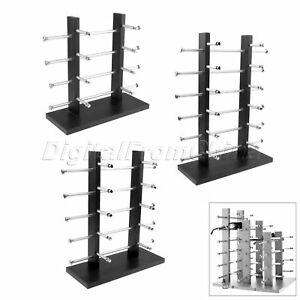 1 sunglasses Wood metal Display Stand Eyeglasses Glasses Rack 2 row 4 5 6 Layers