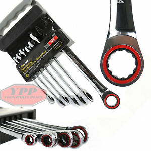 7 Piece Ratcheting Combination Wrench Set Sae 5 16 To 3 4 Ratcheting Kit