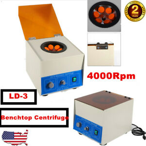 6 50ml Electric Benchtop Centrifuge Lab Medical Practice 4000rpm Widely Used