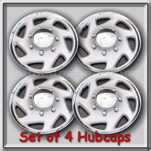 Set 4 15 2001 2002 Ford Econoline Van E 150 Hubcaps Wheel Covers Free Shipping