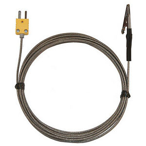 Oakton Wd 08468 22 Alligator Clip Thermocouple Type k 2 Ss 10 ft