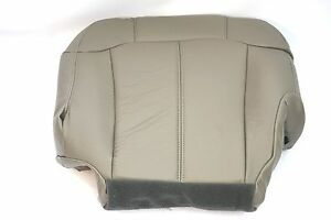 2000 2001 2002 Chevy Tahoe Suburban Driver Side Bottom Seat Covers Light Tan