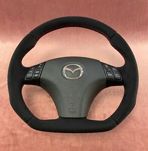 Steering Wheel Mazda 3 And 6 Sport Style Flat Bottom Extra Padding
