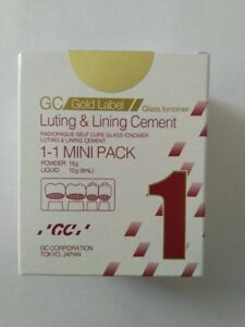 3 Packs Of Gc Fuji 1 Glass Ionomer Luting Lining Gi Cement Mini Pack