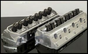 New Set Complete Aluminum Cylinder Heads Sbf Ford 302 190cc 62cc 2 02 1 60