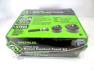 1 1 2 2 Greenlee 737bb Manual Knockout Punch Kit In Original Shrinkwrap