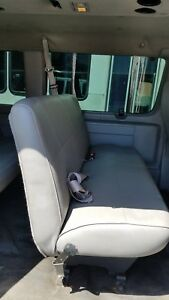 Ford Passenger Van E 250 E 350 2nd Row 3rd Row 4th Row Bench Seat Gray