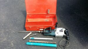 Bosch 11209 Rotary Hammer Drill With Bits Works Great