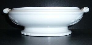 Estate Antique Ironstone Lily Of The Valley Base Of Tureen Or Veggie