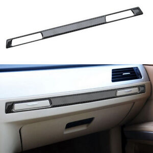 Carbon Fiber Co pilot Water Cup Holder Cover Trim For Bmw 3 Series E90 2006 2011