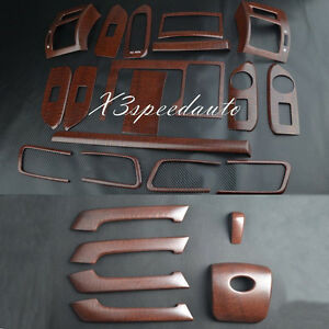 Wood Grain Dash Trim Kit Full Set For Toyota Fj150 10 16 Prado Land Cruiser Lhd
