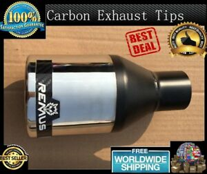 1 Piece Universal Remus Car Exhaust Muffler Outlet Stainless Steel Modified Pipe