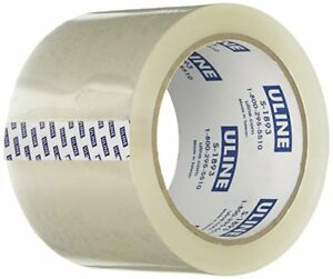 24 Rolls 3 Inch Wide 55 Yard 2 6 Mil Uline Packaging Clear Carton Sealing Tape