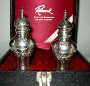 Gorham Sterling Salt Pepper Shakers 438 With Initial S 1940 S Dates