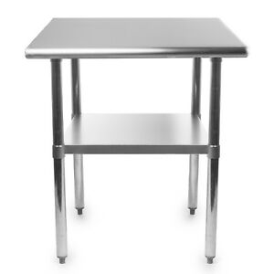 Stainless Steel Commercial Kitchen Cooking Prep Work Restaurant Bar Table 36x24