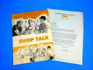 Caterpillar Tractor Co Shop Talk Booklet W Company Letter Signed 1957 Rare