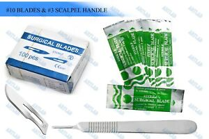 100 Scalpel Blades 10 Pack Scalpel Handle 3 Surgical Knife Dermaplaning