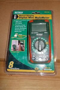 Extech Mn15a Digital Mini Multimeter New Free Shipping