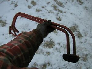 Farmall C Tractor Orignal Ih Pair Of Front Steel Hydraulic Lines