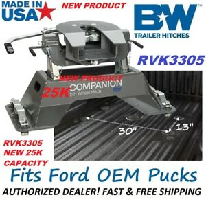 New 25k Rvk3305 B w Companion 5th Wheel Rv Hitch For 2012 2019 Ford Oem Pucks