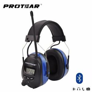 Hearing Protector Bluetooth Radio Headset Ear Muffs Hi fi Sound Noise Protection