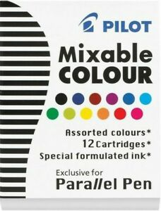 Pilot Ic p3 Parallel Calligraphy Fountain Pen Ink Cartridges Assorted Ink
