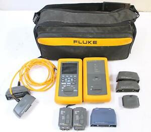 Fluke Dsp 4100 Ethernet Fiber Cable Tester With Dsp 4100sr Smart Remote