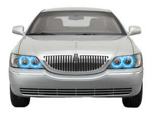 Bright Blue Led Headlight Halo Ring Kit For Lincoln Town Car 05 11