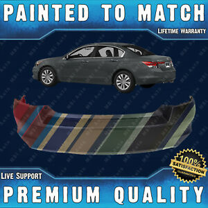 New Painted To Match Rear Bumper Cover Direct For 2008 2012 Honda Accord Sedan