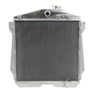 3 Row Aluminum Radiator For 1943 1948 Chevy Cars W Chevy Gm Engine