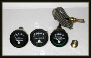 John Deere Tractor Oil Pressure Ammeter Temp Gauge set Fit In 50 60 70 520 530