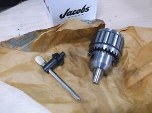 Jacobs Ball Bearing 16n Drill Chuck K4 Key 1 8 5 8 Capacity 3jt Mount