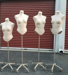 Female Display Manikin Dress Form 1 Cover stand White silver Standard Size