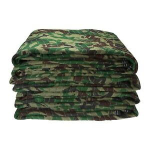 Camouflage Moving Blankets Pads Soft Comfortable Protect Body Warmer Durable New