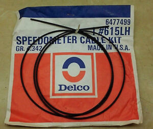 Nos Delco 615lh 6477499 Speedometer Cable Repair Kit 70 1962 1970 Camaro Nova