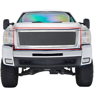 07 10chevy Silverado 2500 3500hd Grille Chrome Ss Wire Mesh Grill Insert W rivet