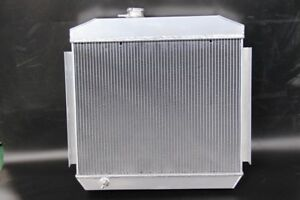 3 Core 4 Pass 1955 1957 Chevy Bel Air Aluminum Radiator W Cooler 55 56 57 V8