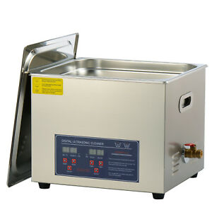 15l Commecial Ultrasonic Jewelry Cleaner For Parts Brass Eyeglass Circuit Board